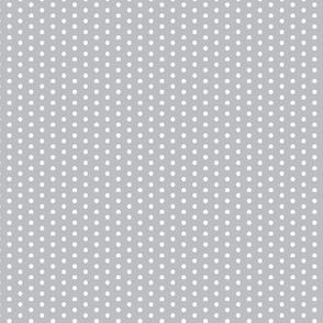 Little Tiny White Polka Dots on Dove Gray Grey Silver Steel Spots _ Miss Chiff Designs