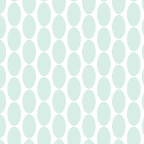 Mint Green Oval Polka Dots || Home Decor Large scale