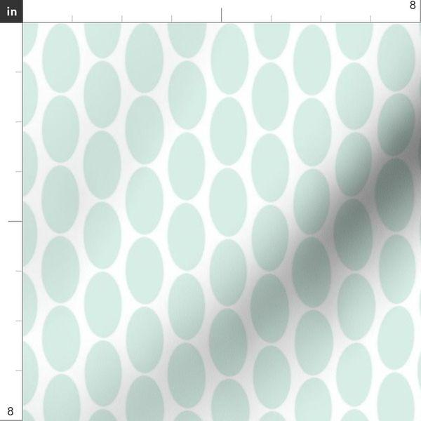 Mint Green Oval Polka Dots Home
