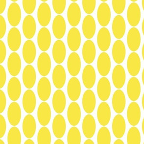 17-07C Lemon Sunshine yellow large oval polka dot || Home Decor _ Miss Chiff Designs