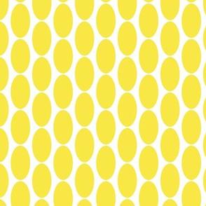17-07C Lemon Sunshine yellow large oval polka dot || Home Decor _ Miss Chiff Designs