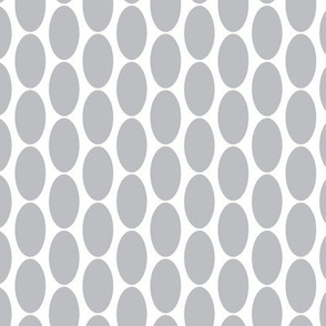 Large Grey Gray white  oval polka dots spots drops || Miss Chiff Designs  Neutral home decor.
