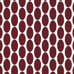 Large Oval Polka Dot Wine Red || White Cranberry Maroon Spots Drops Home Decor _ Miss Chiff Designs