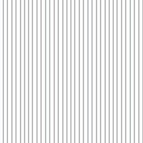 Pin Stripe pinstripe gray grey silver on white