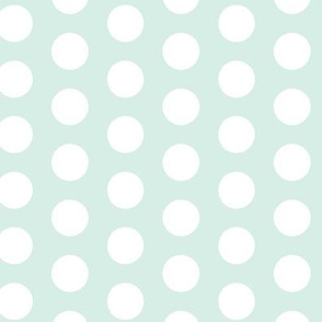 16-23H Mint Green White Polka Dot Large || retro christmas _ Miss CHiff Designs