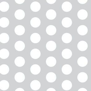 Large Gray White Polka Dot  || Grey Spots Drops Neutral home decor _ Miss Chiff Designs