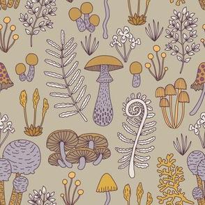 Mushrooms -Purple