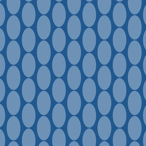 16-23G Dusty Blue Oval Polka Dots Large || Home Decor Spots _ Miss Chiff Designs