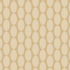 16-23C Large Tan Beige Oval Polka Dot