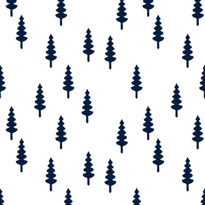 forest - navy on white
