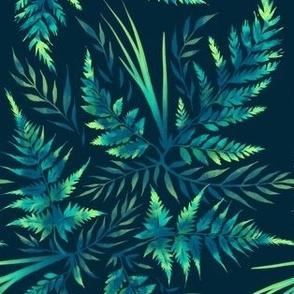 Fern Leaves - Green - F19AAM