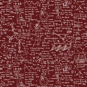 Physics Equations on Maroon // Small