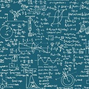 Physics Equations on Aqua // Large