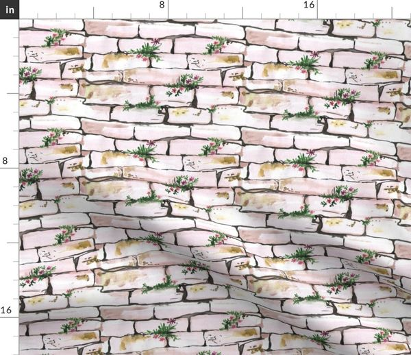 Fabric by the Yard Stone Wall Desert Sand