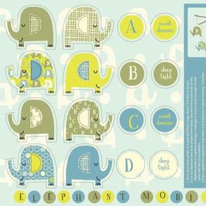 elephant plushie mobile