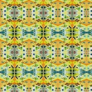 Fabric original watercolour abstract by Eleyan Di Palma wide 3