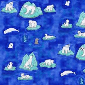 Arctic Animals On Ice 1:1