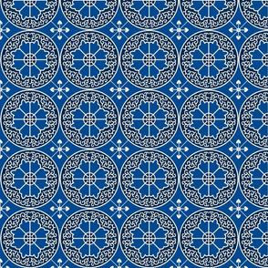 Egyptian Flowers-Blue