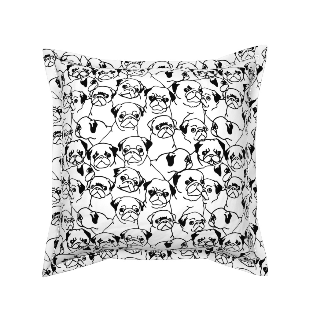 Serama Throw Pillow featuring Oh Pugs by huebucket