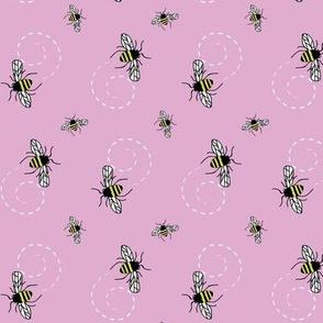 Honeybees Pink Lavender