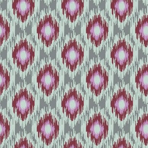 Modern Spring Ikat Dark red Maroon Blue Gray Green Grey Lilac Purple _ Miss Chiff Designs