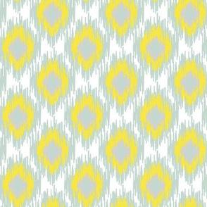 Modern Spring Ikat Spots Dots Diamond Aqua Blue Yellow White Gray Grey Green _ Miss Chiff Designs