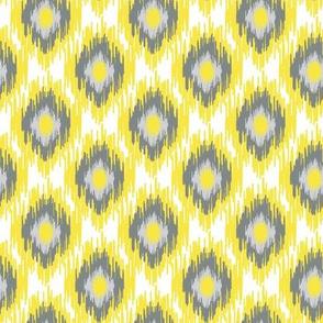 Modern Spring Ikat Sun Yellow Spots Dots Diamond Gray Grey White _ Miss Chiff Designs