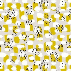 Cool LA style paint and brush strokes abstract trend  fabric pastel texture in fall mustard yellow