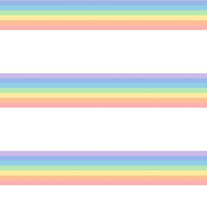 vintage rainbow stripes 1 // pastel