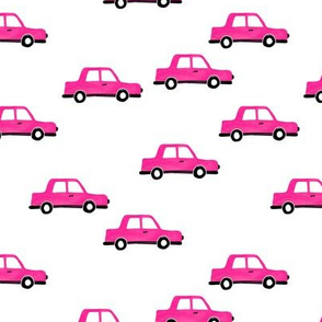 Cool watercolors Paris taxi cab cars traffic design for kids monochrome black and white