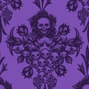2018 Skull Damask-purple
