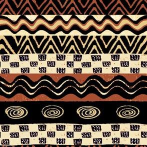 African Tribal Wallpaper Large Design