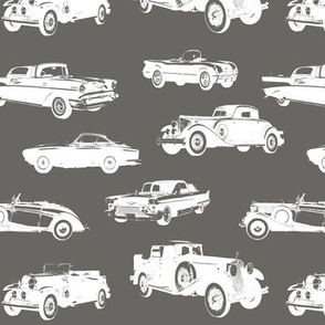 Vintage Cars on Slate Grey