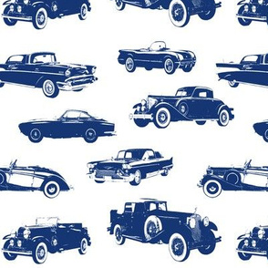 Blue Vintage Cars