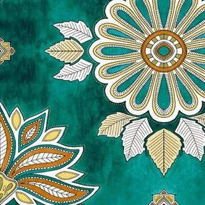 Moroccan Floral - emerald