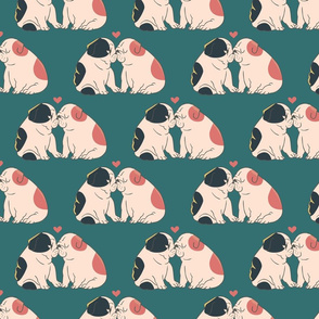 English Bulldog Kisses