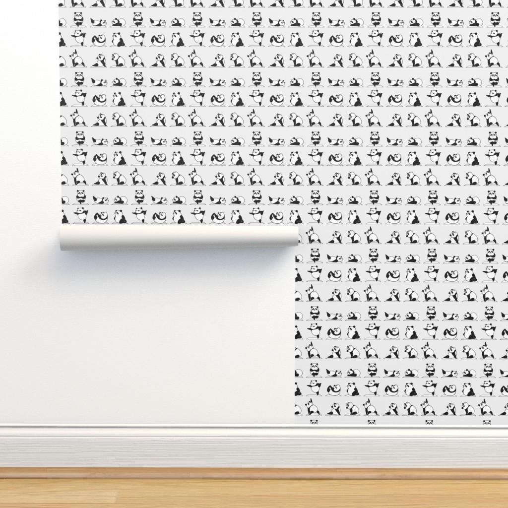 Isobar Durable Wallpaper featuring Panda Yoga by huebucket