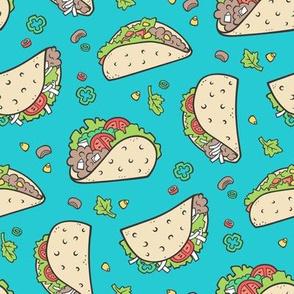 Tacos Food on Blue