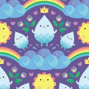 Happy water spirits