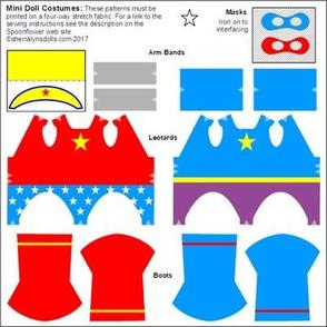 Mini Doll Knit Fabric  Costumes