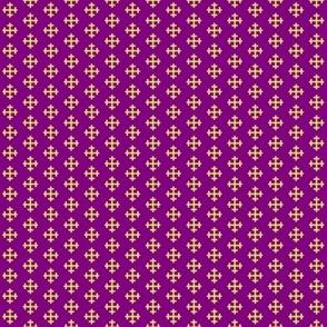 Gold Cross on Purple Small