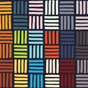 African Tiles Dark Colorway