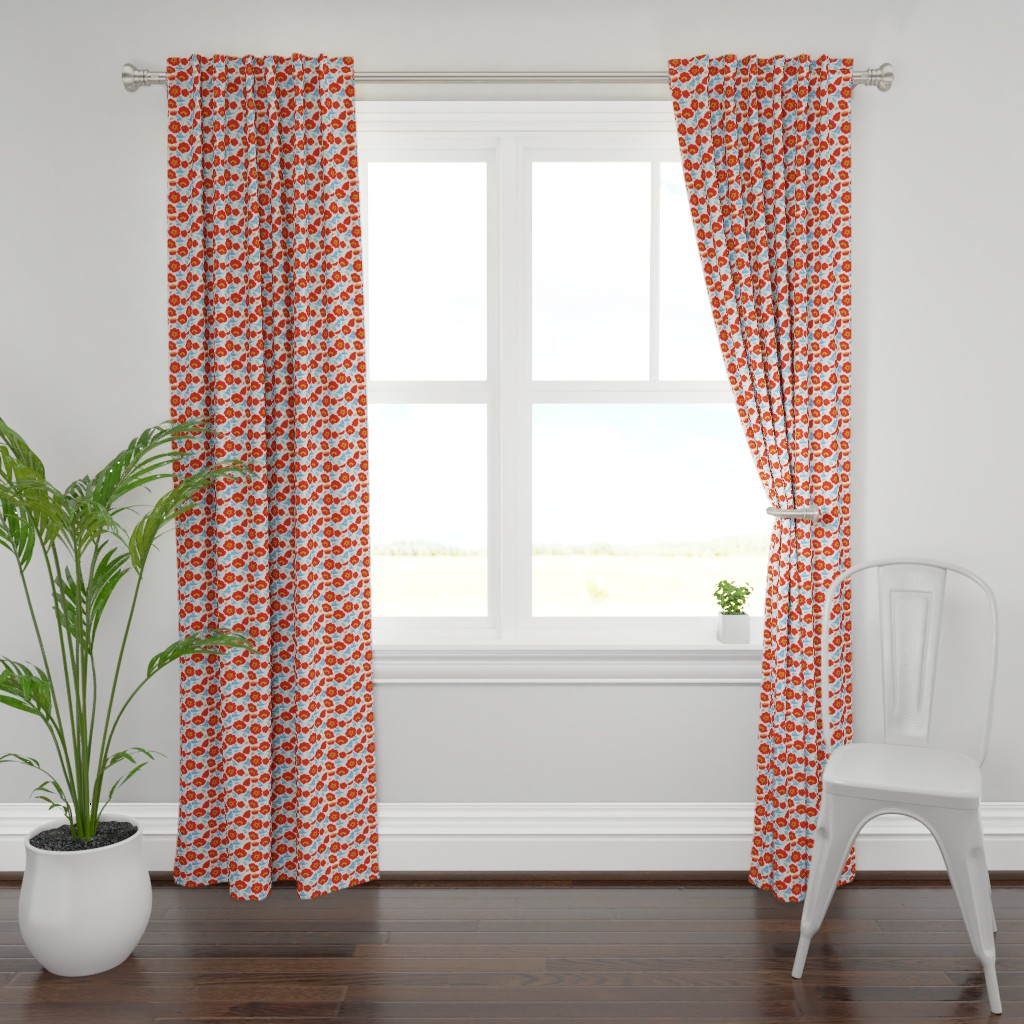 Plymouth Curtain Panel featuring Poppy Ginkgo2 by cindylindgren