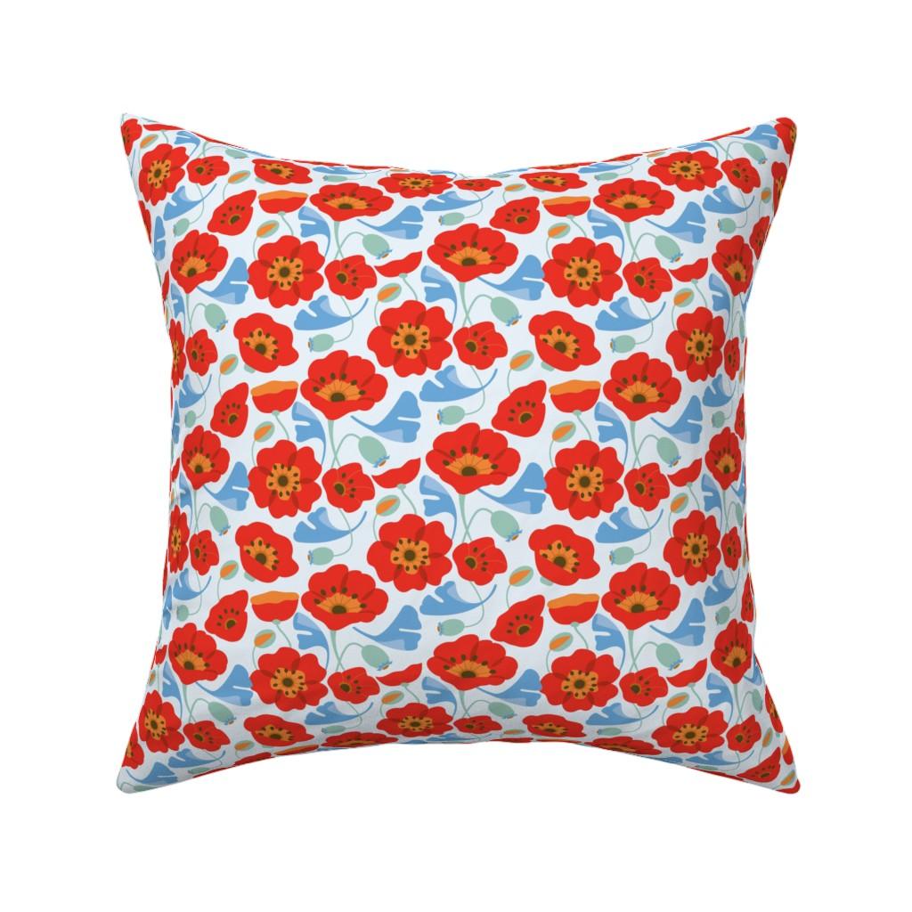 Catalan Throw Pillow featuring Poppy Ginkgo2 by cindylindgren