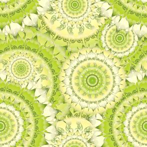 Delicate Mandala Pattern green