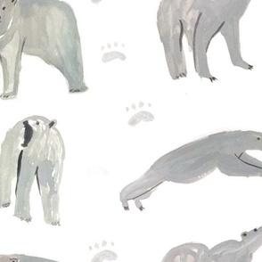 Painted Polar Bears for Winter