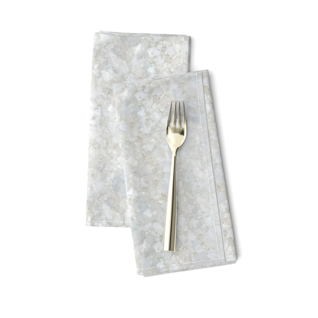 Amarela Dinner Napkins featuring Stones // White Apophyllite Crystal Mineral by stars_and_stones