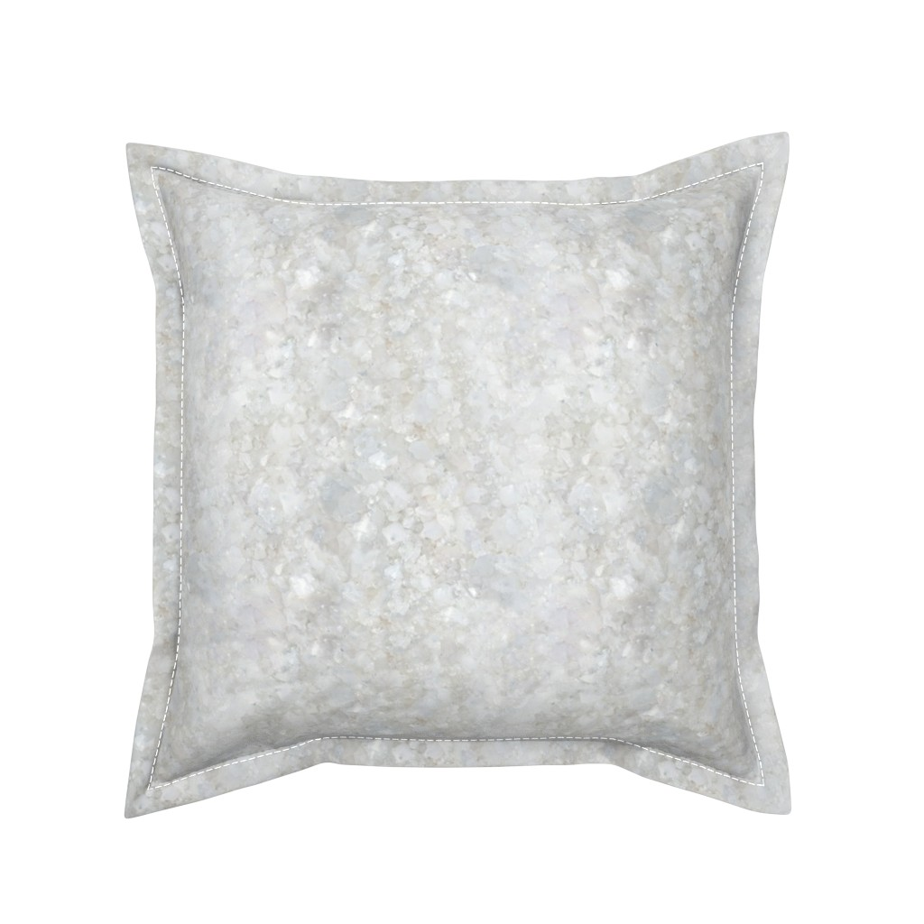 Serama Throw Pillow featuring Stones // White Apophyllite Crystal Mineral by stars_and_stones