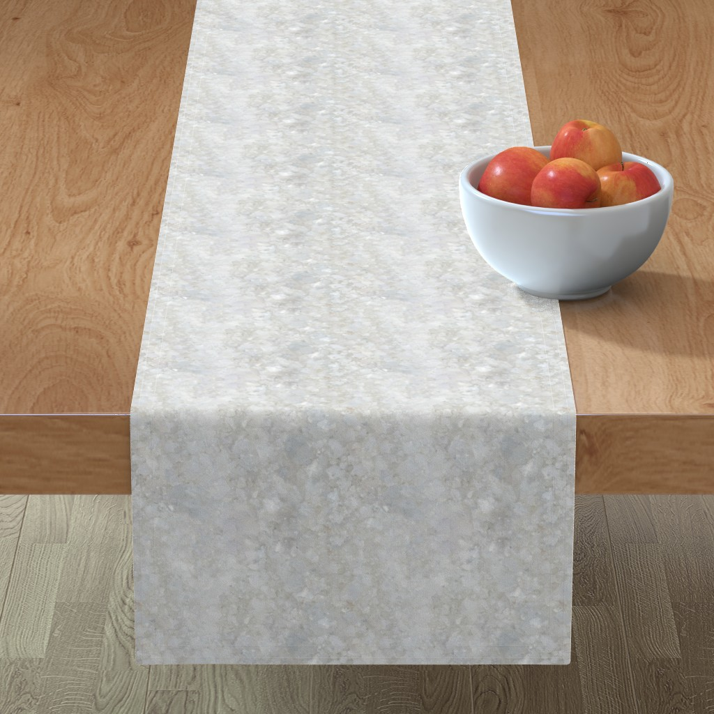 Minorca Table Runner featuring Stones // White Apophyllite Crystal Mineral by stars_and_stones