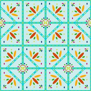 Spanish tiles 9H Brick - Costa Del Sol -seafoam
